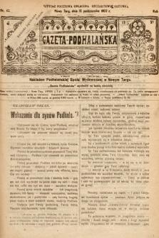 Gazeta Podhalańska. 1922, nr42