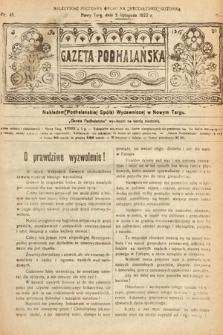 Gazeta Podhalańska. 1922, nr45