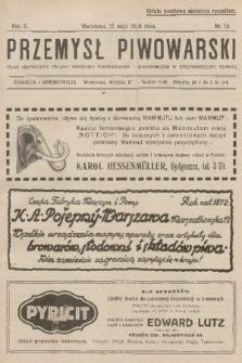 Przemysł Piwowarski : organ Centralnego Związku Przemysłu Piwowarskiego i Słodowniczego w Rzeczypospolitej Polskiej. R.6, 1928, №20