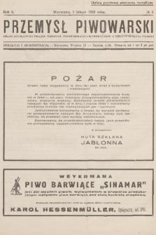 Przemysł Piwowarski : organ Centralnego Związku Przemysłu Piwowarskiego i Słodowniczego w Rzeczypospolitej Polskiej. R.8, 1930, №5
