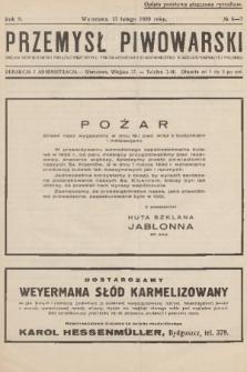 Przemysł Piwowarski : organ Centralnego Związku Przemysłu Piwowarskiego i Słodowniczego w Rzeczypospolitej Polskiej. R.8, 1930, №6-7