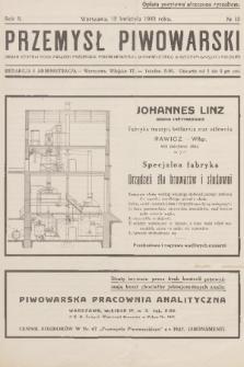 Przemysł Piwowarski : organ Centralnego Związku Przemysłu Piwowarskiego i Słodowniczego w Rzeczypospolitej Polskiej. R.8, 1930, №15