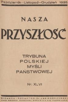 Nasza Przyszłość : trybuna polskiej myśli państwowej. 1935, Tom46