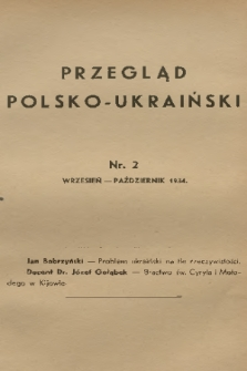 Przegląd Polsko-Ukraiński. 1934, nr2