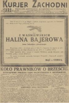 Kurjer Zachodni Iskra : dziennik polityczny, gospodarczy i literacki. R.22, 1931, nr15