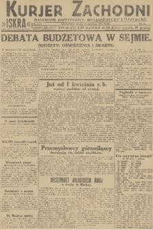 Kurjer Zachodni Iskra : dziennik polityczny, gospodarczy i literacki. R.22, 1931, nr34