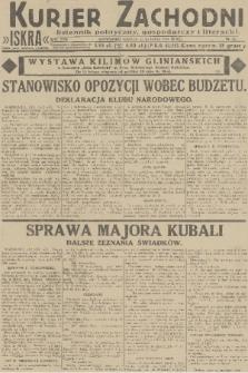 Kurjer Zachodni Iskra : dziennik polityczny, gospodarczy i literacki. R.22, 1931, nr37