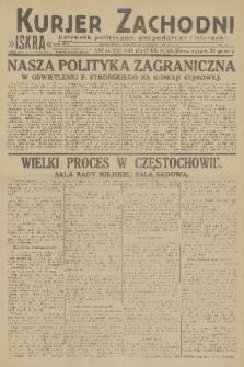 Kurjer Zachodni Iskra : dziennik polityczny, gospodarczy i literacki. R.22, 1931, nr43