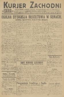Kurjer Zachodni Iskra : dziennik polityczny, gospodarczy i literacki. R.22, 1931, nr53