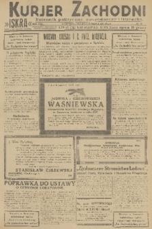 Kurjer Zachodni Iskra : dziennik polityczny, gospodarczy i literacki. R.22, 1931, nr62