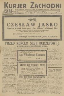 Kurjer Zachodni Iskra : dziennik polityczny, gospodarczy i literacki. R.22, 1931, nr67
