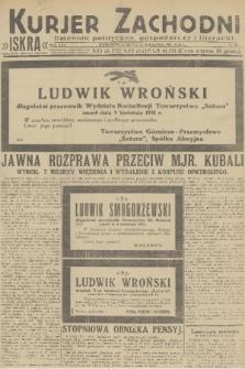 Kurjer Zachodni Iskra : dziennik polityczny, gospodarczy i literacki. R.22, 1931, nr83