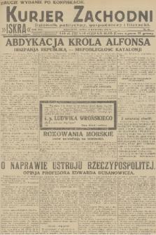 Kurjer Zachodni Iskra : dziennik polityczny, gospodarczy i literacki. R.22, 1931, nr86 [po konfiskacie]