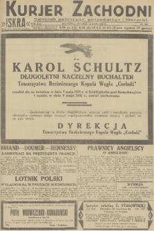 Kurjer Zachodni Iskra : dziennik polityczny, gospodarczy i literacki. R.22, 1931, nr109