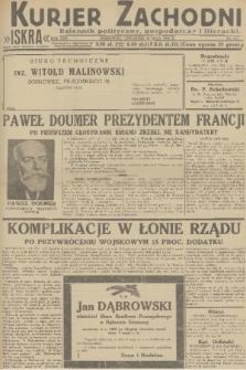 Kurjer Zachodni Iskra : dziennik polityczny, gospodarczy i literacki. R.22, 1931, nr111