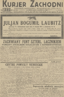 Kurjer Zachodni Iskra : dziennik polityczny, gospodarczy i literacki. R.22, 1931, nr186