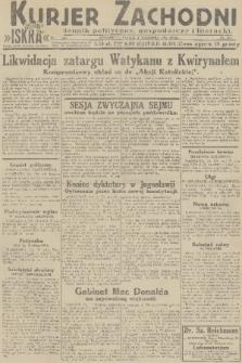 Kurjer Zachodni Iskra : dziennik polityczny, gospodarczy i literacki. R.22, 1931, nr203