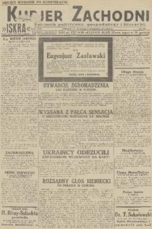 Kurjer Zachodni Iskra : dziennik polityczny, gospodarczy i literacki. R.22, 1931, nr206 [po konfiskacie]