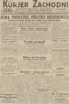 Kurjer Zachodni Iskra : dziennik polityczny, gospodarczy i literacki. R.22, 1931, nr209