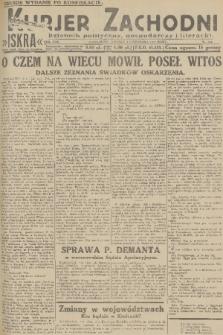 Kurjer Zachodni Iskra : dziennik polityczny, gospodarczy i literacki. R.22, 1931, nr254 [po konfiskacie]