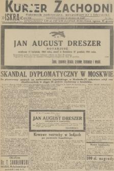 Kurjer Zachodni Iskra : dziennik polityczny, gospodarczy i literacki. R.22, 1931, nr298
