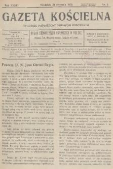 Gazeta Kościelna : tygodnik poświęcony sprawom kościelnym : organ stowarzyszeń kapłańskich w Polsce. R.33, 1926, nr5