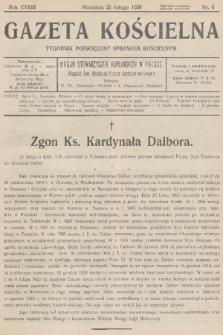 Gazeta Kościelna : tygodnik poświęcony sprawom kościelnym : organ stowarzyszeń kapłańskich w Polsce. R.33, 1926, nr8