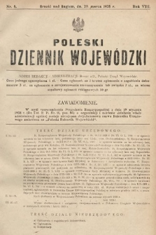 Poleski Dziennik Wojewódzki. 1928, nr4