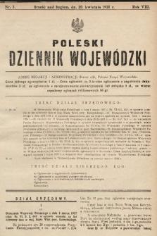 Poleski Dziennik Wojewódzki. 1928, nr5