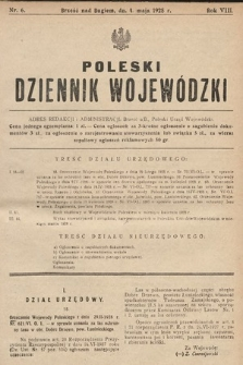 Poleski Dziennik Wojewódzki. 1928, nr6