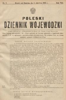 Poleski Dziennik Wojewódzki. 1928, nr7