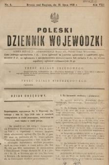 Poleski Dziennik Wojewódzki. 1928, nr8