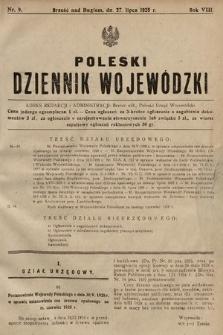 Poleski Dziennik Wojewódzki. 1928, nr9