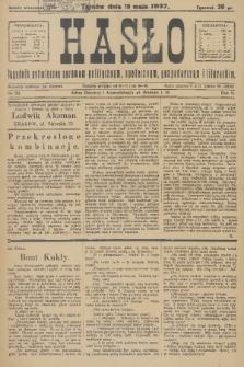 Hasło : tygodnik poświęcony sprawom politycznym, społecznym, gospodarczym i literackim. R.2, 1927, nr20
