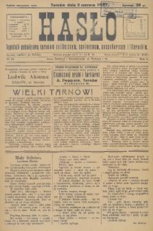Hasło : tygodnik poświęcony sprawom politycznym, społecznym, gospodarczym i literackim. R.2, 1927, nr23