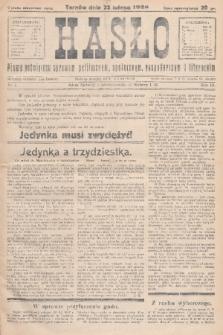 Hasło : pismo poświęcone sprawom politycznym, społecznym, gospodarczym i literackim. R.3, 1928, nr7