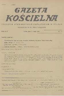 Gazeta Kościelna : tygodnik stowarzyszeń kapłańskich w Polsce. R.43, 1936, nr21