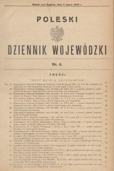 Poleski Dziennik Wojewódzki. 1929, nr4
