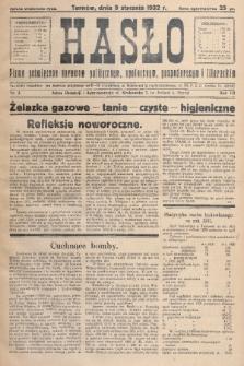 Hasło : pismo poświęcone sprawom politycznym, społecznym, gospodarczym i literackim. R.7, 1932, nr2