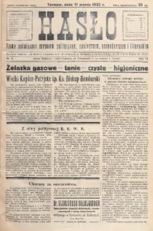 Hasło : pismo poświęcone sprawom politycznym, społecznym, gospodarczym i literackim. R.7, 1932, nr11