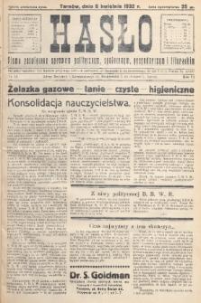 Hasło : pismo poświęcone sprawom politycznym, społecznym, gospodarczym i literackim. R.7, 1932, nr15