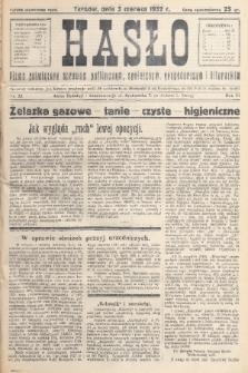 Hasło : pismo poświęcone sprawom politycznym, społecznym, gospodarczym i literackim. R.7, 1932, nr23