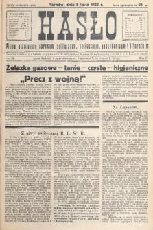 Hasło : pismo poświęcone sprawom politycznym, społecznym, gospodarczym i literackim. R.7, 1932, nr28