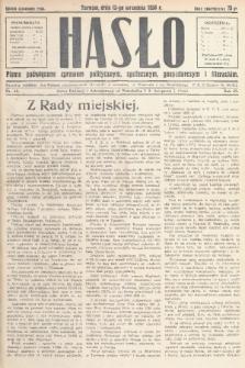Hasło : pismo poświęcone sprawom politycznym, społecznym, gospodarczym i literackim. R.9, 1934, nr35