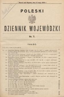 Poleski Dziennik Wojewódzki. 1929, nr7
