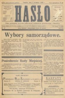 Hasło : pismo poświęcone sprawom politycznym, społecznym, gospodarczym i literackim. R.13, 1938, nr27