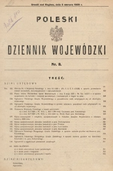 Poleski Dziennik Wojewódzki. 1929, nr8