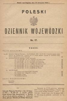 Poleski Dziennik Wojewódzki. 1929, nr17