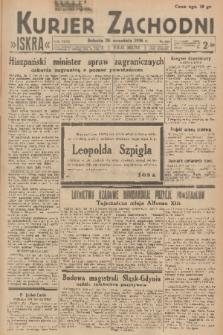 Kurjer Zachodni Iskra. R.27, 1936, nr263