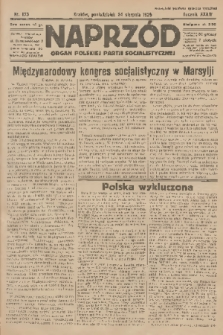 Naprzód : organ Polskiej Partji Socjalistycznej. 1925, nr193